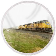 Round Beach Towel featuring the photograph Up8420 by Jim Thompson