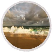Round Beach Towel featuring the photograph Upcoming Tropical Storm by Eti Reid