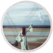 Upended Umbrella Round Beach Towel