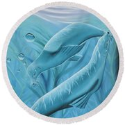Round Beach Towel featuring the painting Uphoria by Dianna Lewis