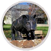 Upj Panther Round Beach Towel