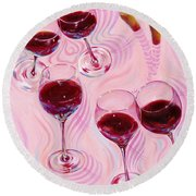 Round Beach Towel featuring the painting Uplifting Spirits  by Sandi Whetzel