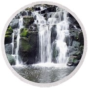 Round Beach Towel featuring the photograph Upper Beaver Falls by Chalet Roome-Rigdon