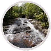 Upper Chapel Brook Falls Round Beach Towel