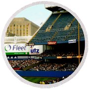 Upper Deck  The Yankee Stadium Round Beach Towel by Iconic Images Art Gallery David Pucciarelli