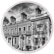 Round Beach Towel featuring the photograph Upper Regents Street by Howard Salmon