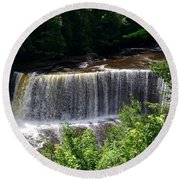 Upper Tahquamenon Falls Round Beach Towel