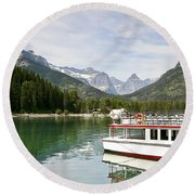Round Beach Towel featuring the photograph Upper Waterton Lakes by Teresa Zieba