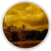 Upper West Side And Central Park Round Beach Towel
