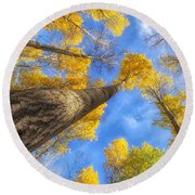 Upward Round Beach Towel
