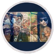 Urban Graffiti 3 Round Beach Towel by Janice Westerberg