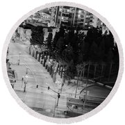 Round Beach Towel featuring the photograph Urban  by Heidi Smith