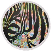 Urban Jungle Round Beach Towel by Amy Giacomelli