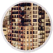 Round Beach Towel featuring the photograph Urban Living Dclxxiv By Amyn Nasser by Amyn Nasser