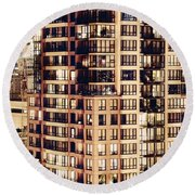 Urban Living Dclxxiv By Amyn Nasser Round Beach Towel by Amyn Nasser