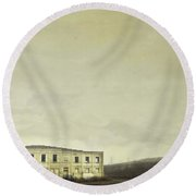 Urban Ruins Round Beach Towel