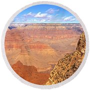 Us, Arizona, Grand Canyon, View Round Beach Towel