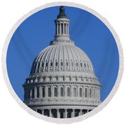 Us Capitol Dome Round Beach Towel