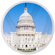 Us Capitol, Washington Dc, District Of Round Beach Towel