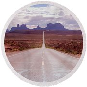 Us Highway 163 Round Beach Towel