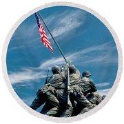 Us Marine Corps War Memorial Round Beach Towel