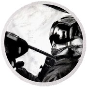 U.s. Marines Helicopter Pilot Round Beach Towel