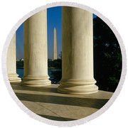 Usa, District Of Columbia, Jefferson Round Beach Towel