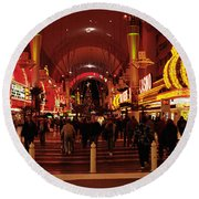 Usa, Nevada, Las Vegas, The Fremont Round Beach Towel