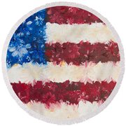 Usa Proud Round Beach Towel