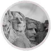 Usa, South Dakota, Mount Rushmore, Low Round Beach Towel by Panoramic Images