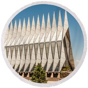 Air Force Academy Chapel Round Beach Towel