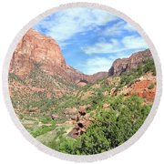Round Beach Towel featuring the photograph Utah 21 by Will Borden