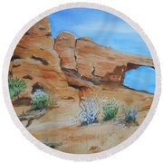 Utah - Arches National Park Round Beach Towel
