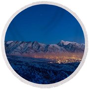 Utah Valley Round Beach Towel