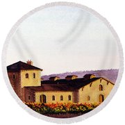 V. Sattui Winery Round Beach Towel by Mike Robles