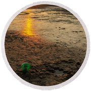 Round Beach Towel featuring the photograph Vacation by Mike Ste Marie
