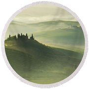 Val D'orcia Round Beach Towel