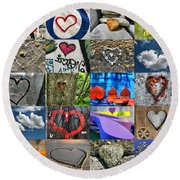 Valentine's Day - Hearts For Sale Round Beach Towel