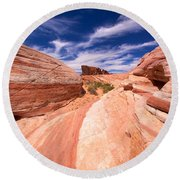 Valley Of Fire 2 Round Beach Towel