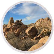 Valley Of Rocks Round Beach Towel