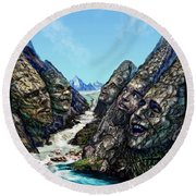 Valley Of The Absurd Round Beach Towel