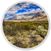 Round Beach Towel featuring the photograph Valley View 27 by Mark Myhaver