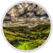 Valley View Round Beach Towel by Steve Purnell