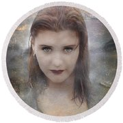 Vamp Round Beach Towel by Bruce Stanfield