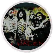 Van Halen - Ain't Talkin' 'bout Love Round Beach Towel by Absinthe Art By Michelle LeAnn Scott