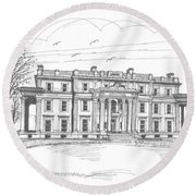 Vanderbilt Mansion Round Beach Towel