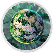 Vangloghing Roses Round Beach Towel by Robin Moline