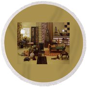 Various Tortoise Shell Furniture And Accessories Round Beach Towel