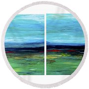 Vast Horizon Round Beach Towel