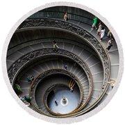 Vatican Spiral Staircase Round Beach Towel